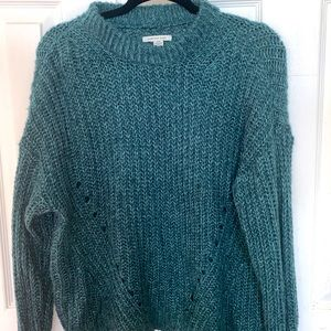 Sea green and blue sweater